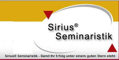 Sirius® Seminaristik â?? Seminare â?? Ideenwerkstatt â?? Kompetenz - Lösungen